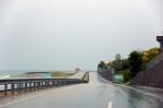 Yağmur altında Trabzon'a doğru gidiyoruz