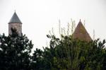 Yakutiye Medresesi minare ve kubbesinin bir başka açıdan görünüşü