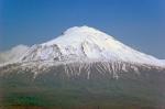 Iğdır Küllük Köyü'den Ağrı Dağı. Hala 45 km uzaktayız. 300 mm kullanıldı.