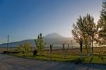 Sim-Er Hotel'den sabah güneşinde Ağrı Dağı'nın görünümü