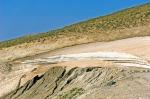 Nemrut'un tepesinde buz kütleleri