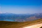 Nemrut'un zirvesinden Van Gölü ve Tatvan