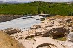Aslantepe'deki M.Ö.3300 den gelen saray kalıntıları ve kazı alanı